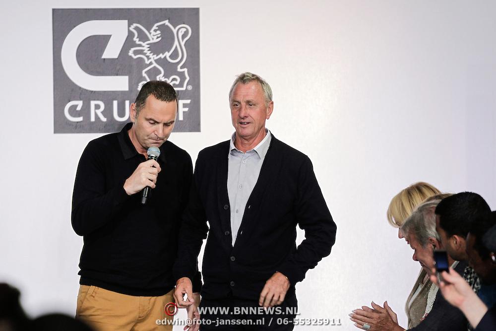 NLD/Amsterdam/20120531 - Presentatie kledinglijn Johan Cruijff Apparel Collection, Raoel Heertje en Johan Cruijff