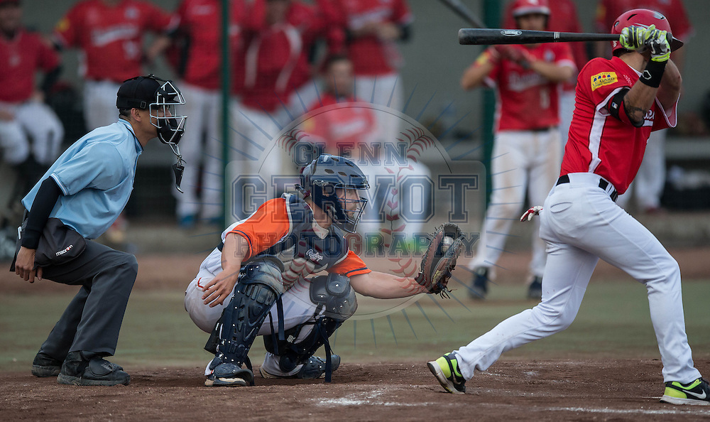 Shots from France Baseball Division 1 Challenge de France 2015 game between The Montpellier Barracuda and Beaucaire Chevaliers. Game won by Montpellier 11-4 in 9 innings.<br /> Credit : Glenn Gervot