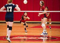 St Pauls's School Volleyball.  ©2014 Karen Bobotas Photographer