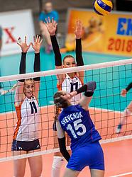 02-04-2017 NED:  CEV U18 Europees Kampioenschap vrouwen dag 2, Arnhem<br /> Nederland - Rusland 3-0 / Lisa Nobel #11, Indy Baijens #17
