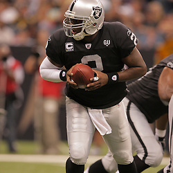 2008 October, 12: Oakland Raiders quarterback JaMarcus Russell (2) in action during a week six regular season game between the Oakland Raiders and the New Orleans Saints at the Louisiana Superdome in New Orleans, LA.