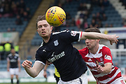 5th May 2018, Dens Park, Dundee, Scotland; Scottish Premier League football, Dundee versus Hamilton Academical; Craig Wighton of Dundee goes past Darren Lyon of Hamilton Academical