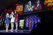 The Victory Belles, from the National WWII Museum, perform at the National Ethnic Coalition of Organizations' 2015 Ellis Island Medal of Honor awards ceremony on Ellis Island, Saturday, May 9, 2015.  NECO honored 101 recipients, including journalist Meredith Vieira, New York Yankees legend Mariano Rivera, Washington, D.C. Police Chief Cathy L. Lanier and 11 members of the U.S. military.  NECO's mission is to honor and preserve the diversity of the American people and to foster tolerance, respect and understanding among religious and ethnic groups. (Photo by Diane Bondareff/Invision for NECO/AP Images)