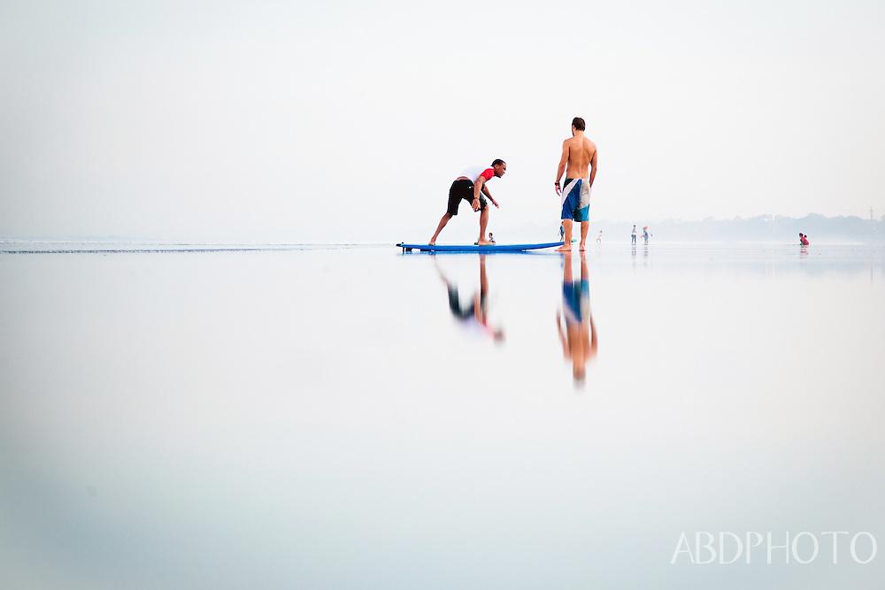 Surfers Kuta Beach Bali Indonesia