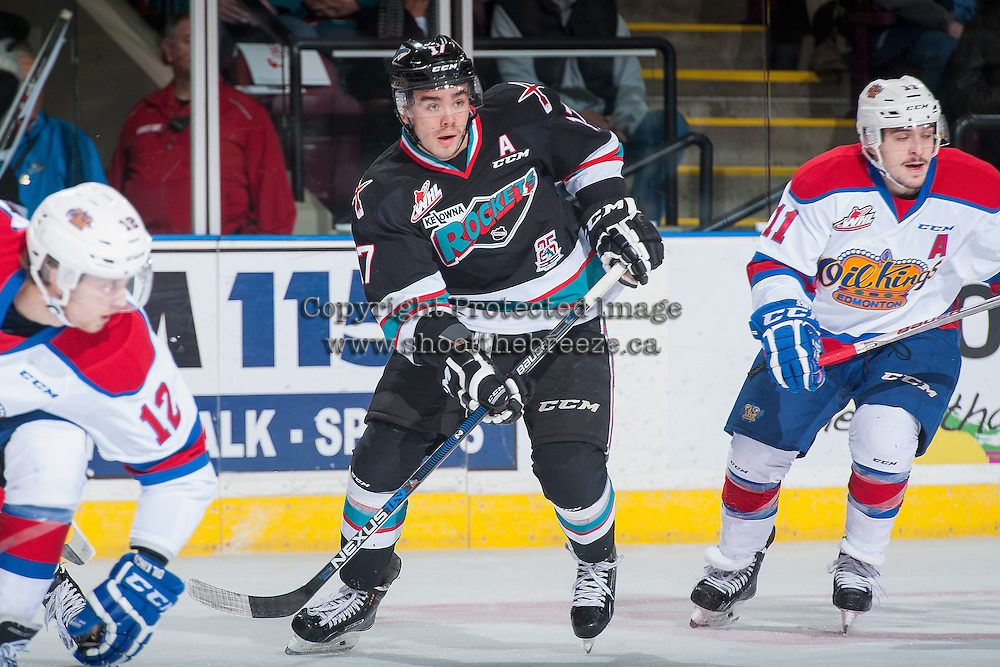 KELOWNA, CANADA - NOVEMBER 20: Rodney Southam #17 of Kelowna Rockets skates against the Edmonton Oil Kings on November 20, 2015 at Prospera Place in Kelowna, British Columbia, Canada.  (Photo by Marissa Baecker/Getty Images)  *** Local Caption *** Rodney Southam;