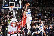 DESCRIZIONE : Campionato 2014/15 Dinamo Banco di Sardegna Sassari - Olimpia EA7 Emporio Armani Milano<br /> GIOCATORE : Rakim Sanders<br /> CATEGORIA : Tiro Tre Punti Three Point Controcampo<br /> SQUADRA : Dinamo Banco di Sardegna Sassari<br /> EVENTO : LegaBasket Serie A Beko 2014/2015<br /> GARA : Dinamo Banco di Sardegna Sassari - Olimpia EA7 Emporio Armani Milano<br /> DATA : 07/12/2014<br /> SPORT : Pallacanestro <br /> AUTORE : Agenzia Ciamillo-Castoria / Claudio Atzori<br /> Galleria : LegaBasket Serie A Beko 2014/2015<br /> Fotonotizia : Campionato 2014/15 Dinamo Banco di Sardegna Sassari - Olimpia EA7 Emporio Armani Milano<br /> Predefinita :