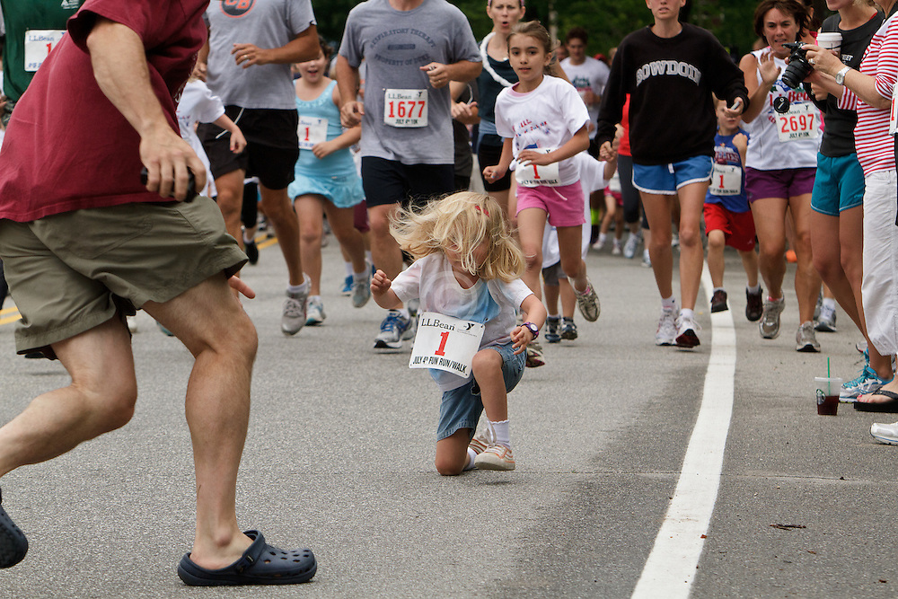 LL Bean 10 road race, kids fun run