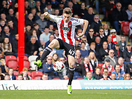 Sergi Canós of Brentford controls the ball before scoring the opening goal during the Sky Bet Championship match between Brentford and Bristol City at Griffin Park, London<br /> Picture by Mark D Fuller/Focus Images Ltd +44 7774 216216<br /> 01/04/2017