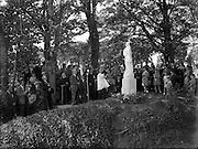 16/08/1952<br /> 8/16/1952<br /> 16 August 1952<br /> <br /> Unveiling and Blessing Shrine of our Lady of the Assumption, at Manresa House of Retreats, Dollymount.  Statue Erected by CIE Staff Committee