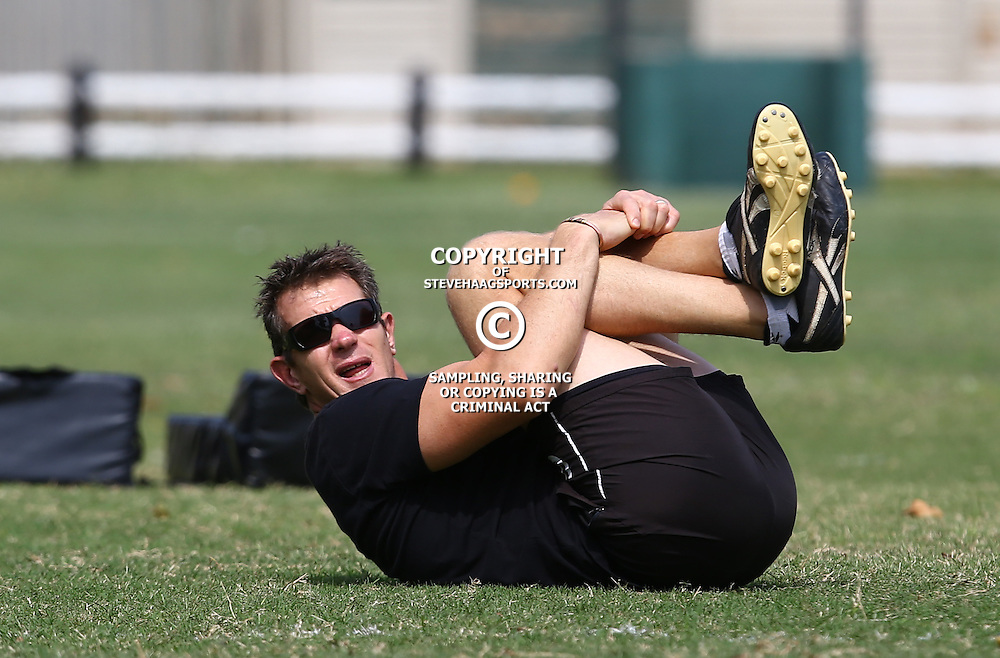 DURBAN, SOUTH AFRICA, 8 September, 2016 - Ryan Strudwick (Assistant Coach) of the Cell C Sharks during The Cell C Sharks training session at Growthpoint Kings Park in Durban, South Africa. (Photo by Steve Haag)<br /> <br /> images for social media must have consent from Steve Haag