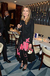 NATASHA McELHONE at a dinner hosted by AA Gill & Nicola Formby in support of the Borne charity held at Rivea at the Bulgari Hotel, Knightsbridge, London on 3rd February 2015.