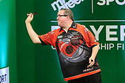 Stephen Bunting during the PDC Darts Players Championship at  at Butlins Minehead, Minehead, United Kingdom on 24 November 2017. Photo by Shane Healey.