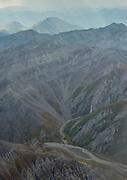 Folded sedimentary rocks make up the mountains of the Central Brooks Range, Alaska