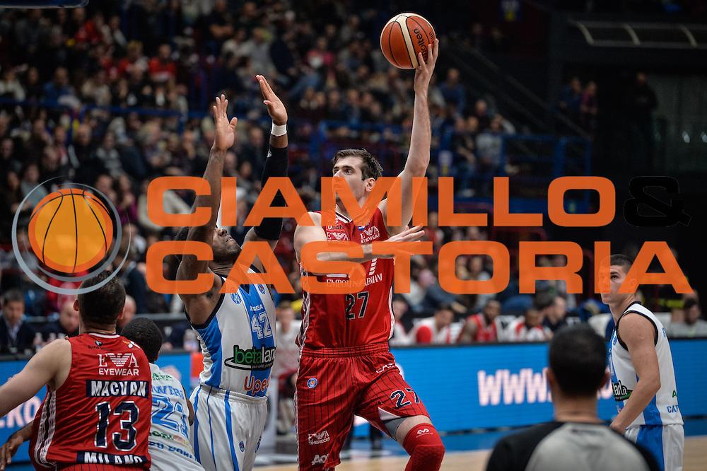 DESCRIZIONE : Milano Lega A 2015-16 <br /> GIOCATORE : Stanko Barac<br /> CATEGORIA : Tiro<br /> SQUADRA : Olimpia EA7 Emporio Armani Milano<br /> EVENTO : Campionato Lega A 2015-2016<br /> GARA : Olimpia EA7 Emporio Armani Milano Betaland Capo d'Orlando<br /> DATA : 13/12/2015<br /> SPORT : Pallacanestro<br /> AUTORE : Agenzia Ciamillo-Castoria/M.Ozbot<br /> Galleria : Lega Basket A 2015-2016 <br /> Fotonotizia: Milano Lega A 2015-16