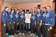 LUCCA 20 NOVEMBRE  2015<br /> BASKET NAZIONALE FEMMINILE<br /> MISS ITALIA ALICE SABATINI IN VISITA AL RITIRO DELLA NAZIONALE<br /> NELLA FOTO: Alice Sabatini team<br /> FOTO CIAMILLO