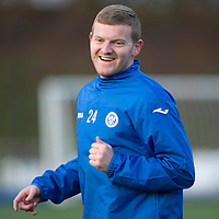 St Johnstone's Brian Easton pictured in training ahead of Sunday's game against Hamilton Accies...30.12.14<br /> Picture by Graeme Hart.<br /> Copyright Perthshire Picture Agency<br /> Tel: 01738 623350  Mobile: 07990 594431