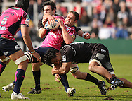 Picture by Steven Hadlow/Focus Images Filipo Levi of Newcastle Falcons and tackles a Cardiff Blues player during their Amlin Challenge Cup quarter-final match