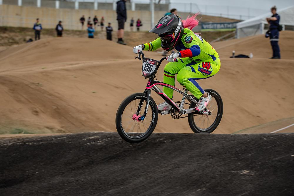 #156 (AZUERO Domenica) ECU at Round 3 of the 2020 UCI BMX Supercross World Cup in Bathurst, Australia.