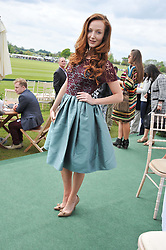 OLIVIA GRANT at the St.Regis International Polo Cup between England and South America held at Cowdray Park, West Sussex on 18th May 2013.  South America won by 11 goals to 9 goals.