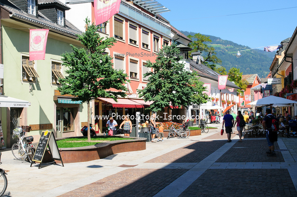 Lienz, Tyrol, Austria. the main pedestrian and shopping street
