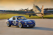 Image of a 1973 Sunoco RSR tribute car, Porsche 911 RSR, property released