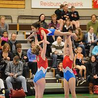 HARDENBERG - Acro gym.Drie deelnemers van TSH.ffu press agency©2010frank uijlenbroek..