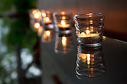 Tea candle wedding decorations reflecting at Punta de Vista Photographers in Costa Rica, getting married in costa rica, costa rica marriage requirements, costa rica photography, costa rica marriage traditions, wedding cr