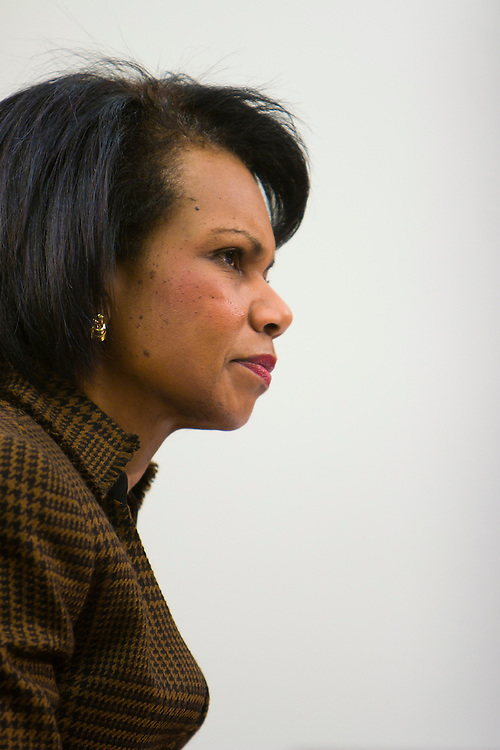 Secretary of State Condoleezza Rice testifies in a U.S. House Appropriations subcommittee hearing on supplemental wartime funding in Washington, DC, on Friday, Feb. 16, 2007.
