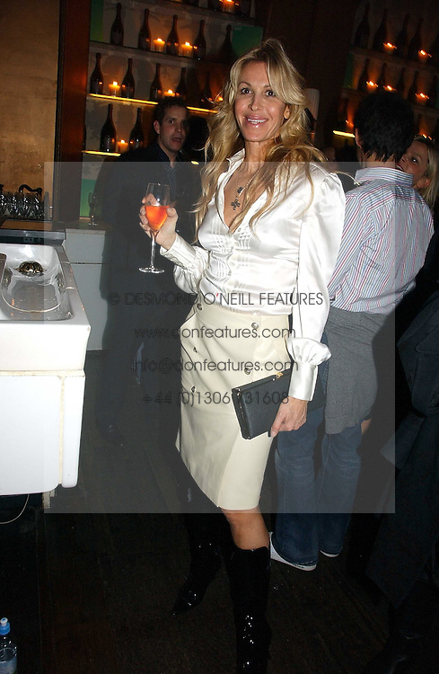 MELISSA ODABASH at a party hosted by Dom Perignon at Sketch, Conduit Street, London on 18th October 2006.<br />