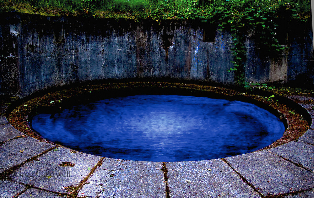 Abandoned coastal gun battery with Blue Infinity Pool added to give image a completely different feel.