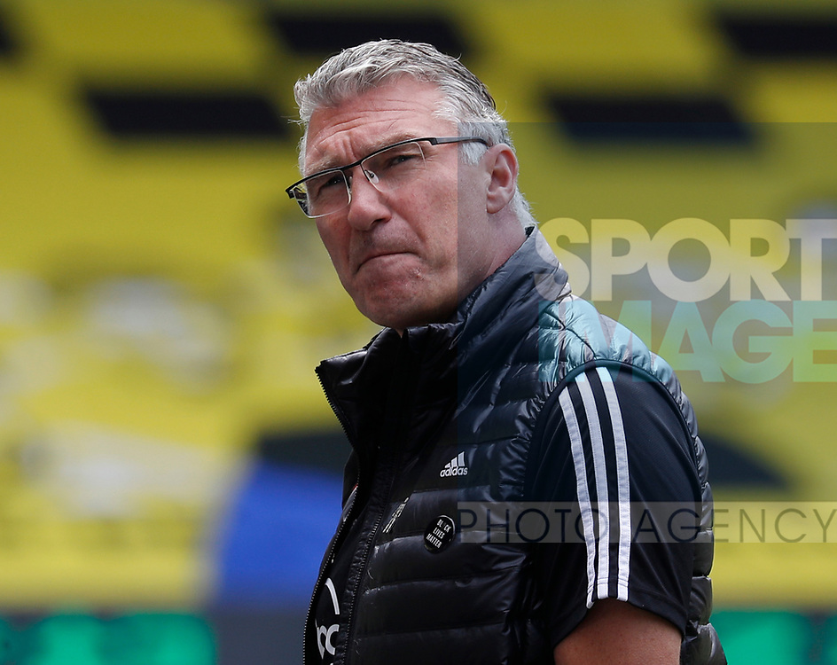 Nigel Pearson manager of Watford during the Premier League match at Vicarage Road, Watford. Picture date: 20th June 2020. Picture credit should read: Darren Staples/Sportimage