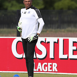 DURBAN, SOUTH AFRICA - MAY 01: Arthur Bartman - Goalkeeper Coach of Maritzburg Utd during the Absa Premiership match between Maritzburg United and Cape Town City FC at Harry Gwala Stadium on May 01, 2017 in Durban, South Africa. (Photo by Steve Haag/Gallo Images)