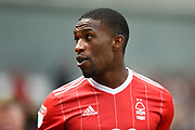 Nottingham Forest defender Tendayi Darikwa (27) during the Pre-Season Friendly match between Nottingham Forest and Burnley at the City Ground, Nottingham, England on 29 July 2017. Photo by Jon Hobley.