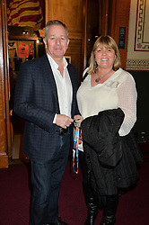MARTIN BRUNDLE and his wife LIZ at the Cirque Du Soleil's VIP performance of Kooza at The Royal Albert Hall, London on 6th January 2015.