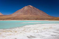 Laguna Verde at the foot of volcano Licancabur, southwestern Altiplano, Bolivia,South America