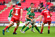 Marco Lazzaroni of Benetton Treviso in action during todays match<br /> <br /> Photographer Craig Thomas/Replay Images<br /> <br /> Guinness PRO14 Round 3 - Scarlets v Benetton Treviso - Saturday 15th September 2018 - Parc Y Scarlets - Llanelli<br /> <br /> World Copyright &copy; Replay Images . All rights reserved. info@replayimages.co.uk - http://replayimages.co.uk