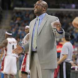 01 November 2008: Cleveland Cavaliers Head Coach Mike Brown during the NBA regular season home opener for the New Orleans Hornets against the Cleveland Cavaliers at the New Orleans Arena in New Orleans, LA..
