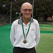 Frank Thomas, Australia, Winner 85 Mens Doubles during the 2009 ITF Super-Seniors World Team and Individual Championships at Perth, Western Australia, between 2-15th November, 2009.