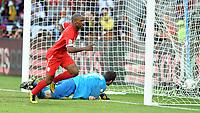 Nelson Mandela Bay Stadium Port Elizabeth World Cup 2010  Match 37 23/06/10<br /> Jermain Defoe (ENG) scores first goal<br /> Photo Roger Parker Fotosports International