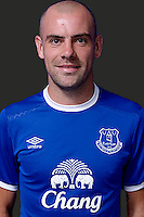 HALEWOOD, ENGLAND - JUNE 9: (EXCLUSIVE COVERAGE)  Darron Gibson poses for photographs after signing an extension to his contract at Everton at Finch Farm on June 9, 2016 in Halewood, England.  (Photo by Tony McArdle/Everton FC via Getty Images)