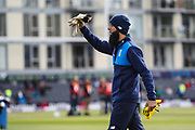 Moeen Ali of England before the One Day International match between England and Ireland at the Brightside County Ground, Bristol, United Kingdom on 5 May 2017. Photo by Andrew Lewis.