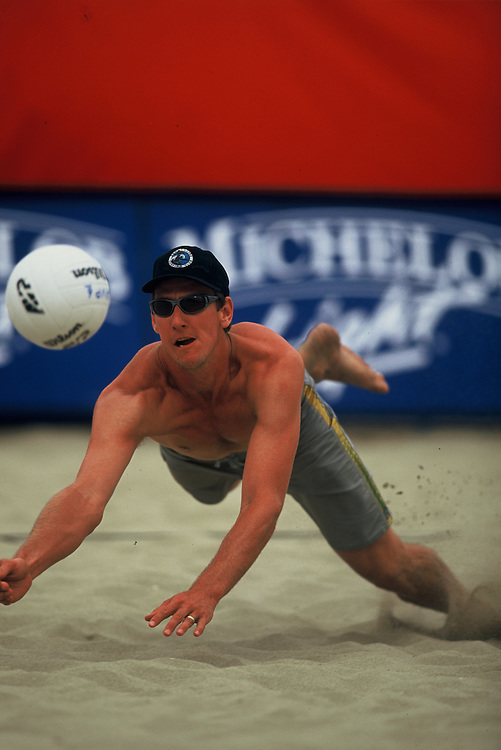 AVP Professional Beach Volleyball - Hermosa Beach, CA - 2001 - Brent Doble  -  Photo by Wally Nell/Volleyball Magazine