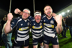 Bristol Rugby fans celebrate  - Mandatory byline: Joe Meredith/JMP - 25/05/2016 - RUGBY UNION - Ashton Gate Stadium - Bristol, England - Bristol Rugby v Doncaster Knights - Greene King IPA Championship Play Off FINAL 2nd Leg.