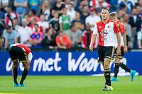 ROTTERDAM - Feyenoord - Olympiakos FC, Voetbal , Seizoen 2015/2016 , oefenwedstrijd , Stadion de Kuip , 01-07-2015 , Speler van Feyenoord Jens Toornstra (r) is teleurgesteld na de 0-1