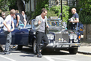 09.MAY.2011. LONDON<br /> <br /> ACTOR JUDE LAW FILMING WITHOUT ANY SOCKS ON IN SWISS COTTAGE IN LONDON<br /> <br /> BYLINE: EDBIMAGEARCHIVE.COM<br /> <br /> *THIS IMAGE IS STRICTLY FOR UK NEWSPAPERS AND MAGAZINES ONLY*<br /> *FOR WORLD WIDE SALES AND WEB USE PLEASE CONTACT EDBIMAGEARCHIVE - 0208 954 5968*