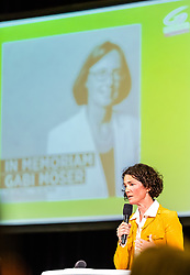 06.04.2019, Volkshaus Pichling, Linz, AUT, Landesversammlung die Grünen Oberösterreich, Wahl des Landessprechers, im Bild Landessprecherin Maria Buchmayr // during the provincial assembly of the OÖ Greens with election of the country speaker at the Volkshaus Pichling in Linz, Austria on 2019/04/06. EXPA Pictures © 2019, PhotoCredit: EXPA/ JFK