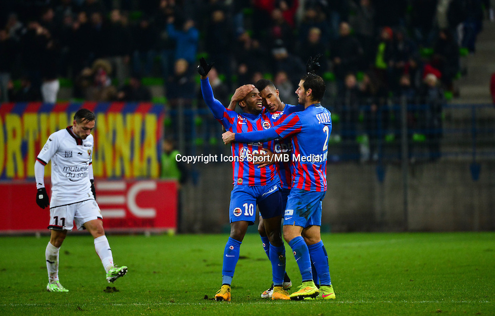 Joie Lenny NANGIS - 06.12.2014 - Caen / Nice - 17eme journee de Ligue 1 -<br />