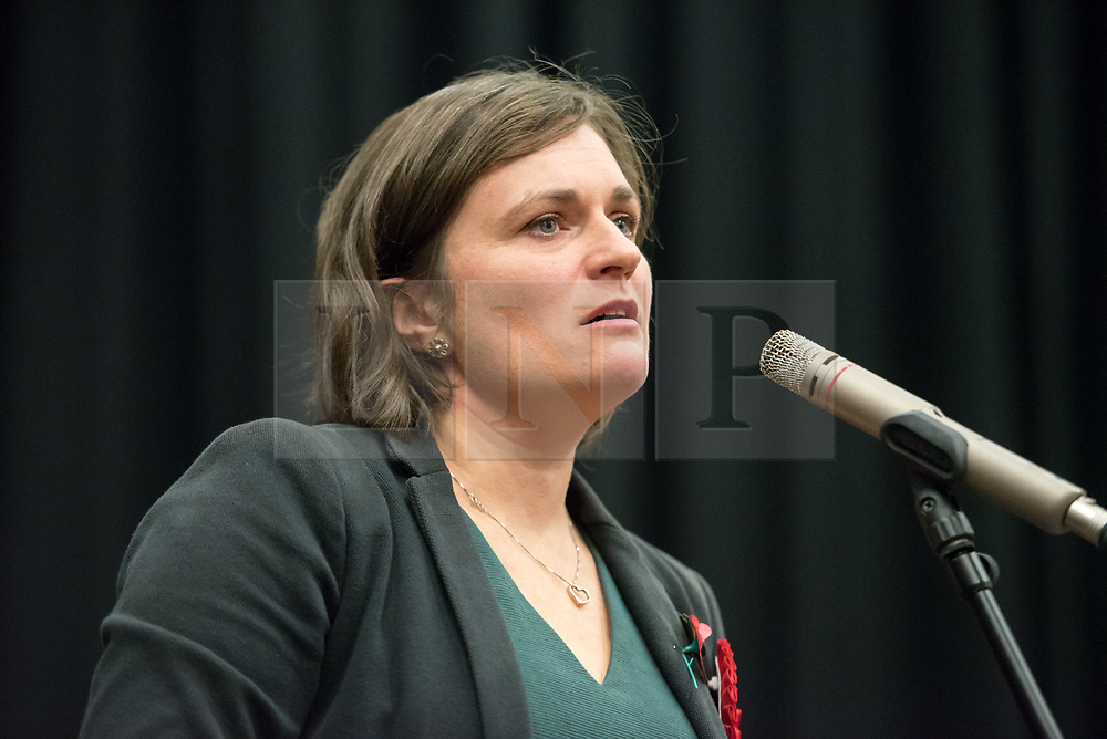 © Licensed to London News Pictures. 02/11/2019. Swindon, Wiltshire, UK.  Swindon Labour candidate SARAH CHURCH at a campaign event with Jeremy Corbyn at the start of Labour's general election campaign in the South West of England at Commonweal 6th form in Swindon, a Conservative-held marginal seat. Labour are promising the biggest people-powered campaign the country has ever seen. Photo credit: Simon Chapman/LNP.