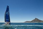 Team Vestas complete leg 1 of the 2014-2015 Volvo Ocean Race arriving in Cape Town. Image by Greg Beadle (Beadle/Lexar)