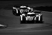 September 30-October 1, 2011: Petit Le Mans. 2 Tom Kristensen, Allan McNish, Dindo Capello, Audi R18, Audi Sport Team Joest, 1 Marcel Fassler, Romain Dumas, Timo Bernhard, Audi R18, Audi Sport Team Joest